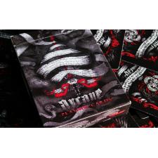 Red Arcane Uncut Playing Cards Sheet